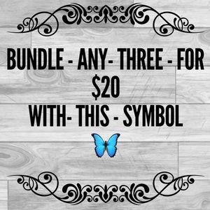 Any Three Item With This Symbol 👠For $20